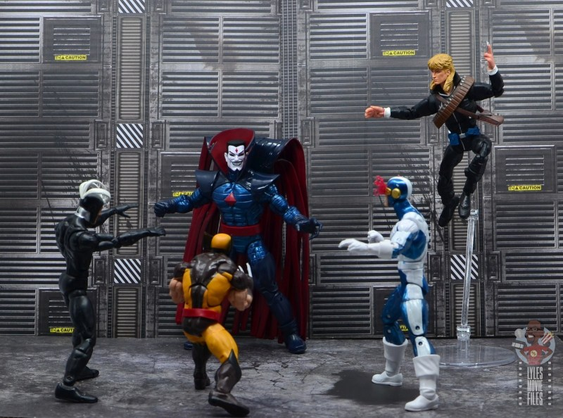 marvel legends mister sinister figure review - vs havok, wolverine, cyclops and longshot