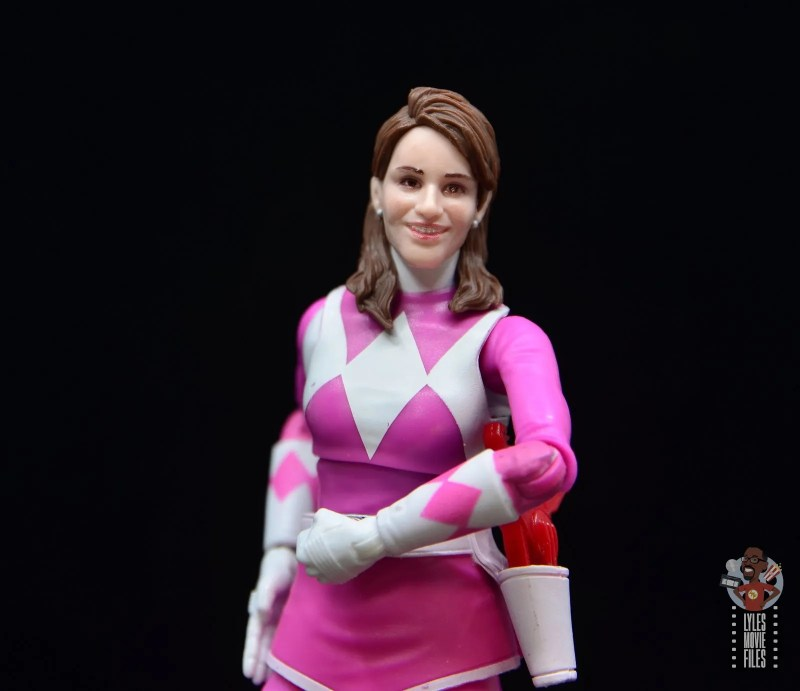 power rangers lightning collection pink ranger figure review -kimberly head