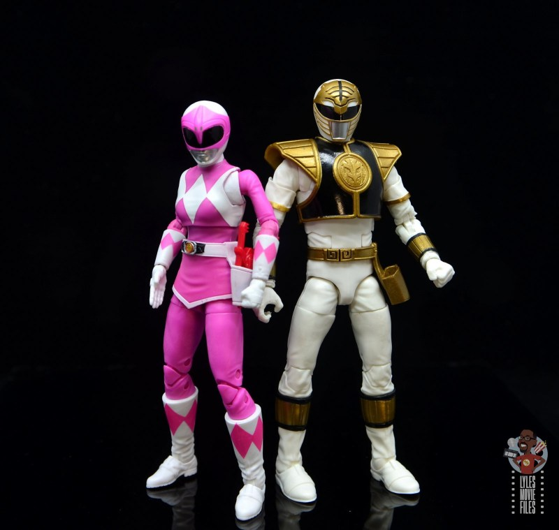 power rangers lightning collection pink ranger figure review -scale with white ranger
