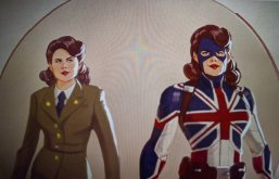 what if concept art - peggy carter as captain britian