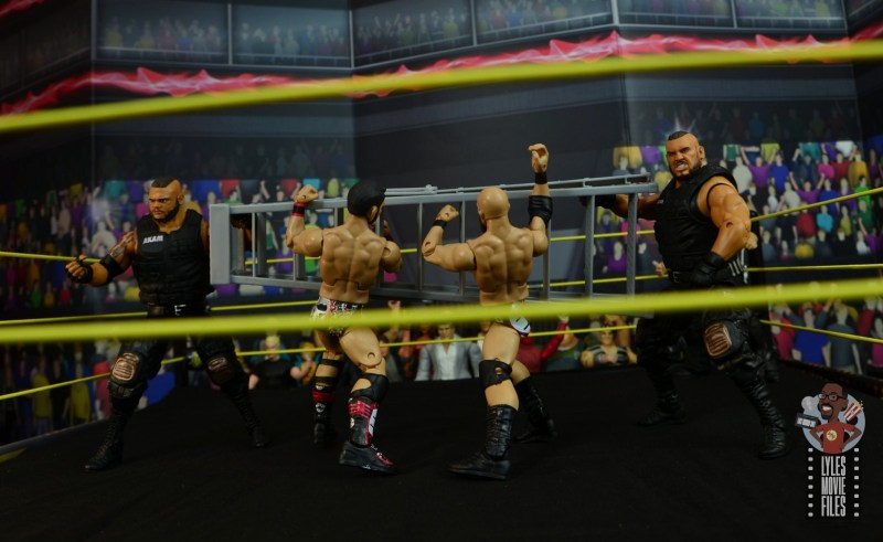 wwe elite authors of pain figure review - cracking diy with the ladder
