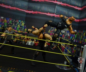 wwe elite authors of pain figure review - stomp from the top rope