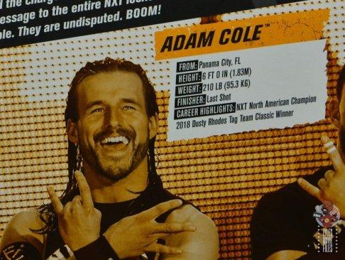 wwe elite undisputed era figure set review - package - adam cole bio