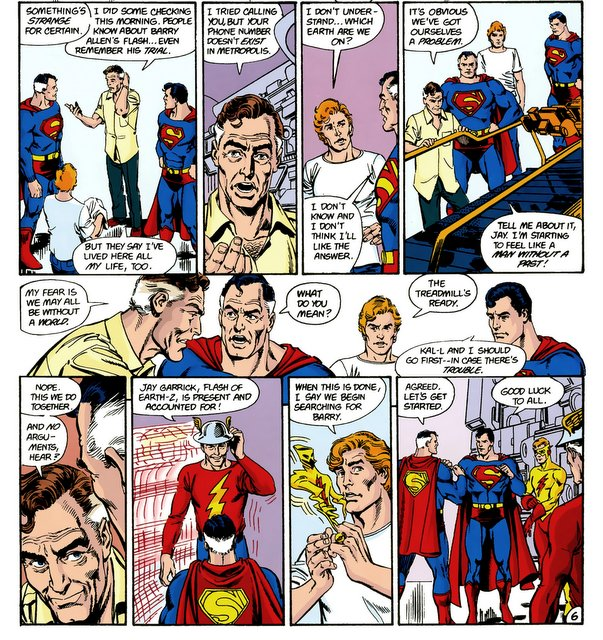 crisis on infinite earths #11 - supermen and flash team up