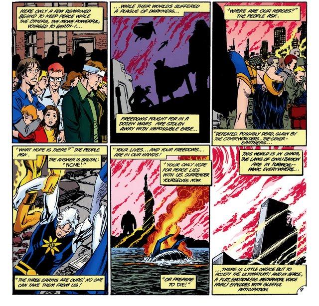crisis on infinite earths #9 - villains assault