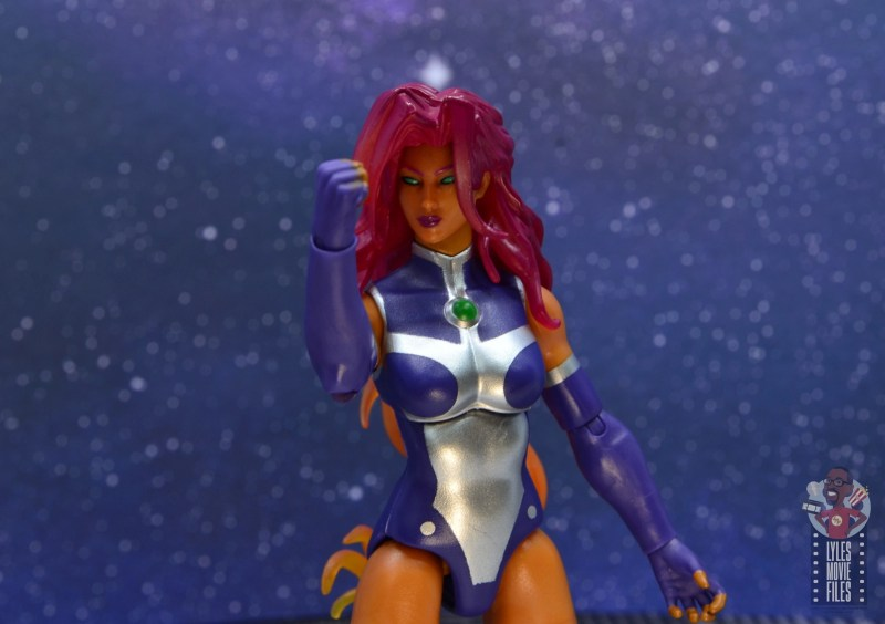 dc multiverse starfire figure review - arm up