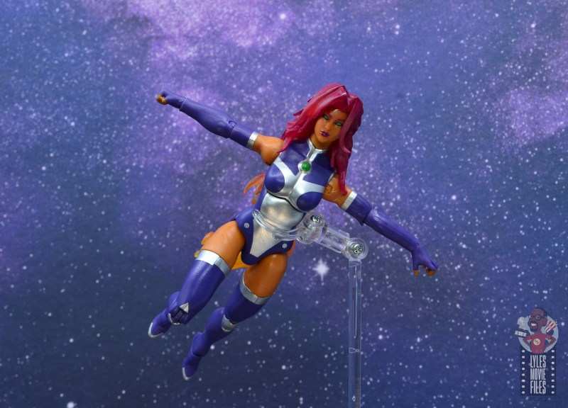 dc multiverse starfire figure review - flying