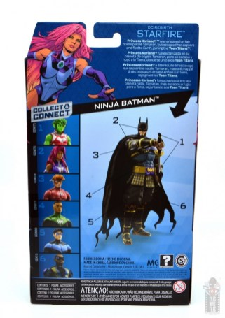 dc multiverse starfire figure review - package rear