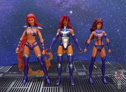 dc multiverse starfire figure review - with dc direct and dc classics starfire