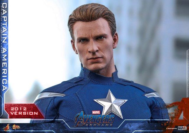 hot toys avengers endgame captain america 2012 figure - head sculpt close up