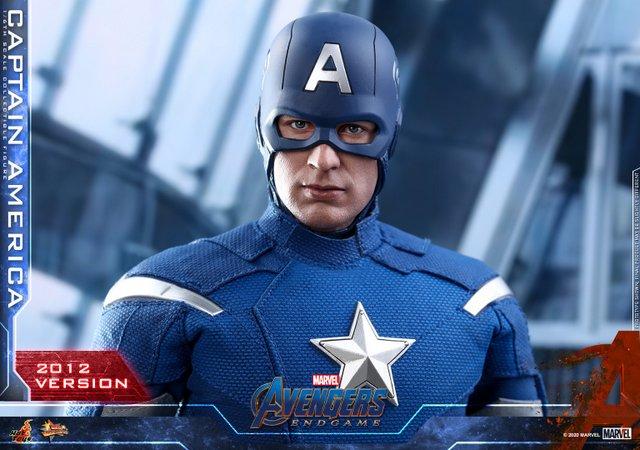 hot toys avengers endgame captain america 2012 figure - helmet and outfit details