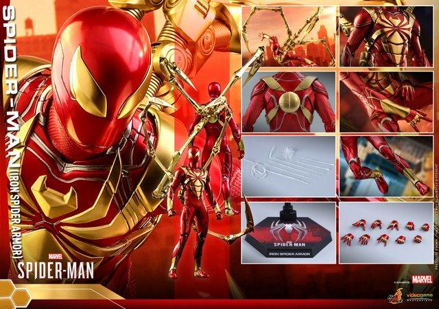 hot toys spider-man iron spider armor figure - collage