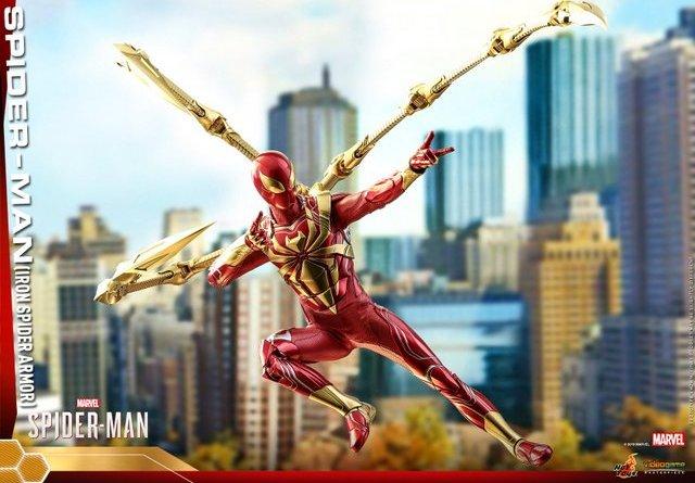 hot toys spider-man iron spider armor figure -main shot