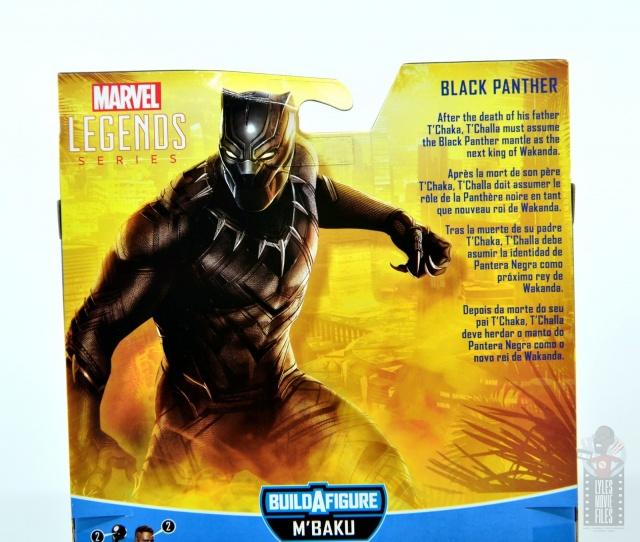 marvel legends black panther civil war 2019 figure review -package bio