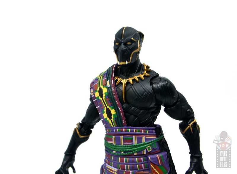 marvel legends black panther t'chaka figure review - detailed close up