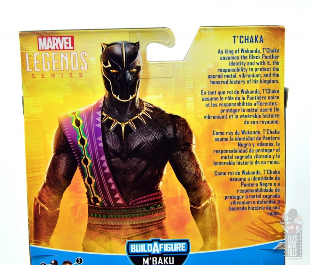 marvel legends black panther t'chaka figure review - package bio