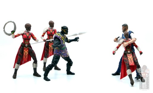 marvel legends black panther t'chaka figure review - vs klaue with dora milaje