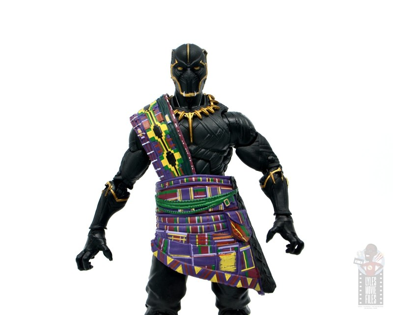 marvel legends black panther t'chaka figure review - wide shot