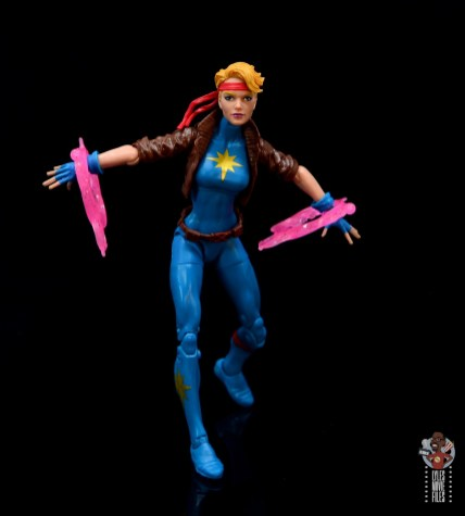 marvel legends dazzler figure review -channeling power for attack