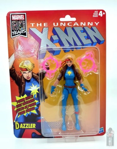 marvel legends dazzler figure review - package front