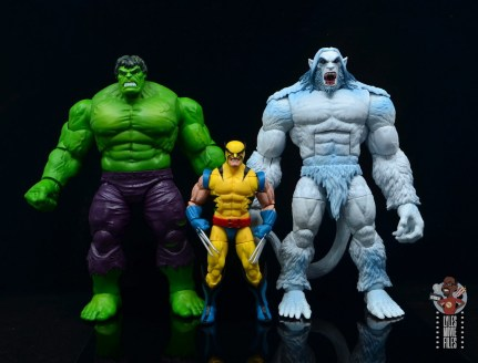 marvel legends wendigo figure review - scale with hulk and wolverine