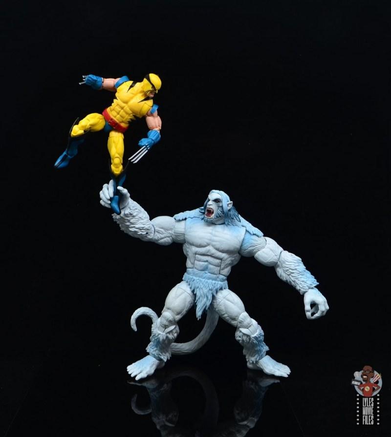marvel legends wendigo figure review - vs. wolverine