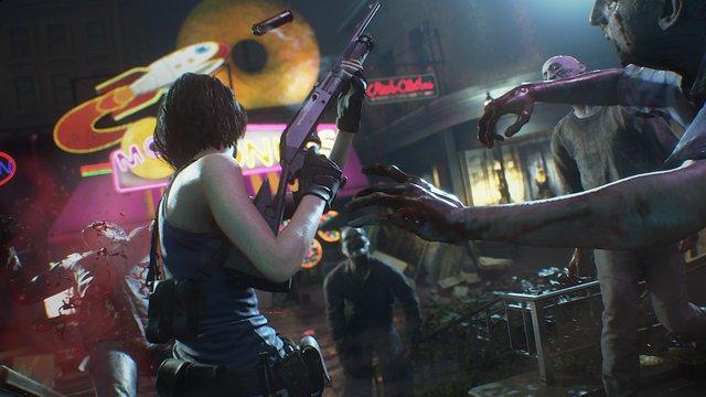 resident evil 3 remake - jill vs zombies