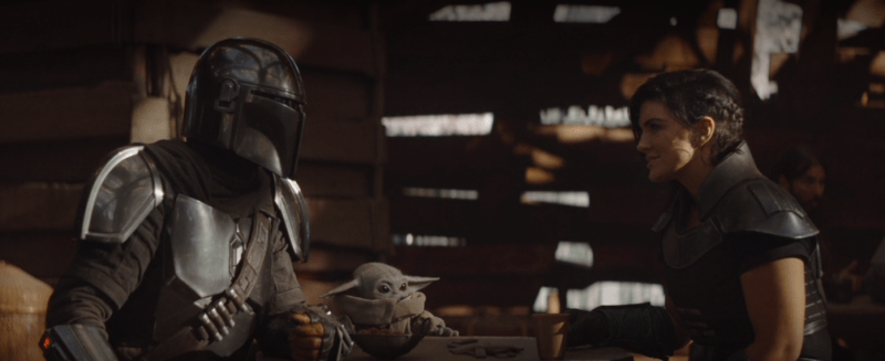 the mandalorian - the reckoning review - mando, the child and cara dune