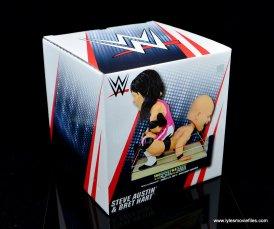 wrestlemania 13 bret hart vs steve austin bobblehead set review - package top and sides