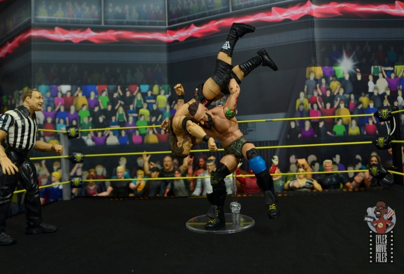 wwe elite 65 eric young figure review - death valley driver to adam cole