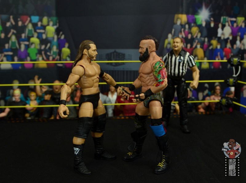 wwe elite 65 eric young figure review - face off with adam cole