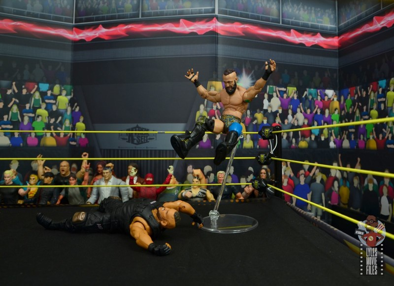 wwe elite 65 eric young figure review - flying legdrop