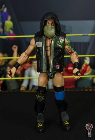 wwe elite 65 eric young figure review - vest and mask front