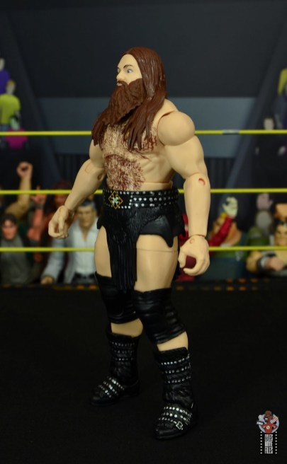 wwe elite killian dain figure review - left side