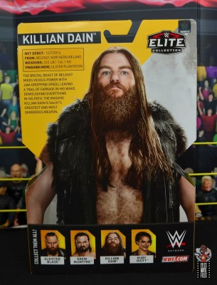 wwe elite killian dain figure review - package rear