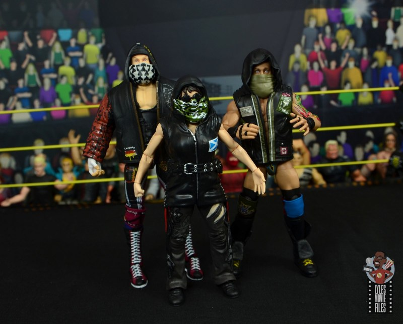 wwe elite nikki cross figure review - with alexander wolfe and eric young