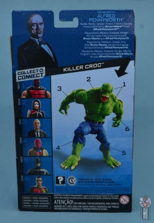 dc multiverse alfred figure review - package rear