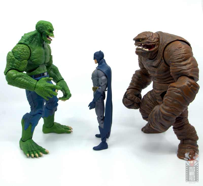 dc multiverse killer croc figure review - facing dc essentials batman and dc multiverse clayface