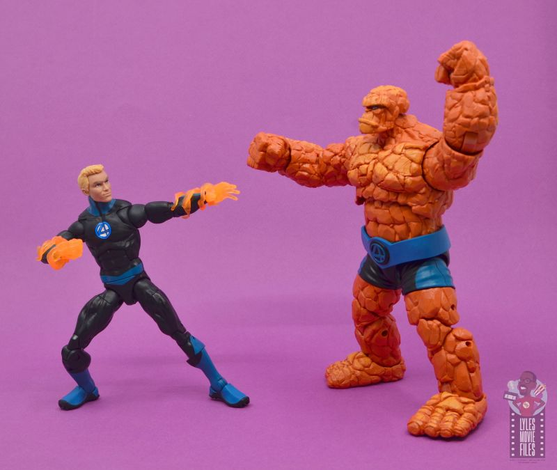 marvel legends human torch figure review - annoying the thing