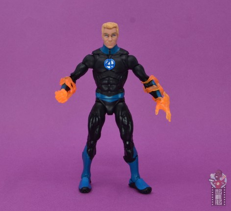 marvel legends human torch figure review - front