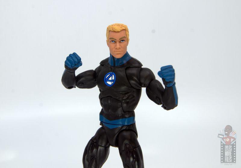 marvel legends human torch figure review - hands up