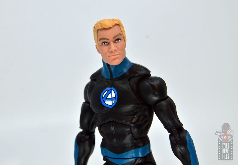 marvel legends human torch figure review - head and chest detail