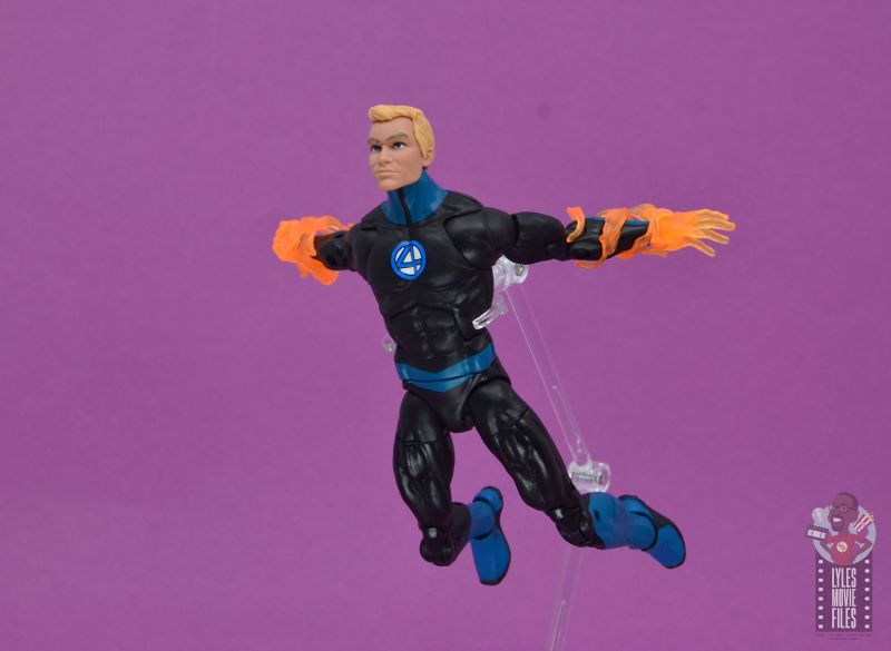 marvel legends human torch figure review - ready to fly