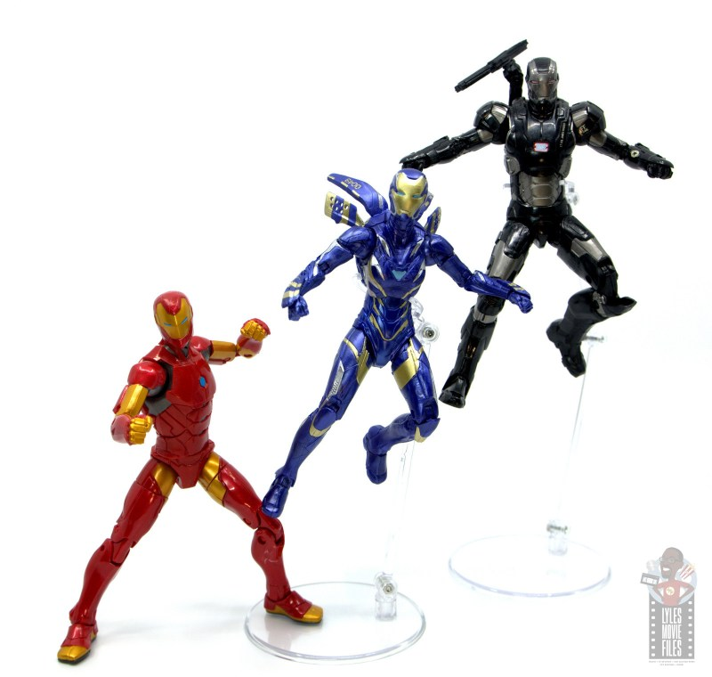 marvel legends rescue figure review - ready for battle with iron man and war machine