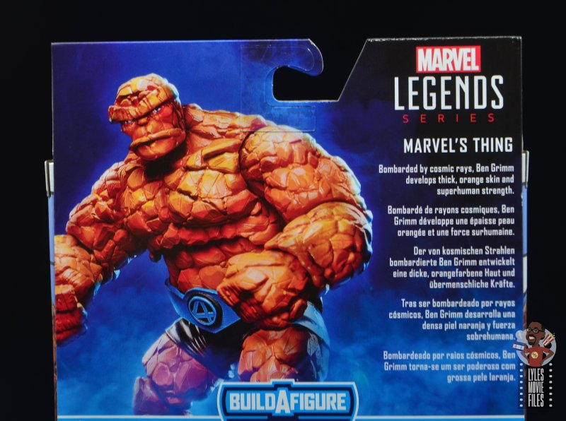 marvel legends the thing figure review - package bio
