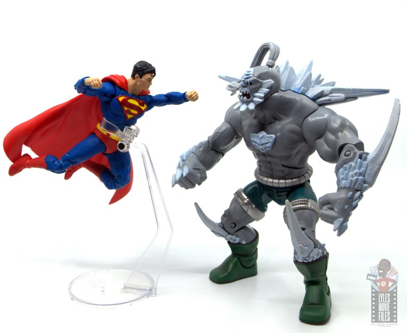 mcfarlane toys dc multiverse superman figure review - flying toward doomsday