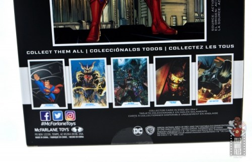 mcfarlane toys dc multiverse superman figure review - package bottom