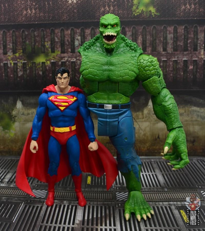 mcfarlane toys dc multiverse superman figure review - scale with dc multiverse killer croc