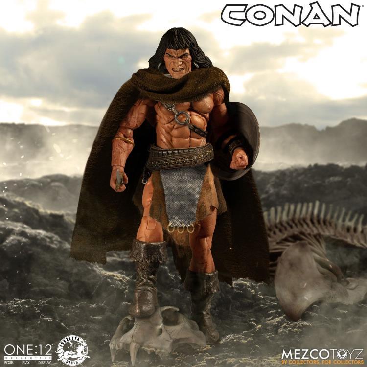 mezco toyz one 12 conan figure -angry face