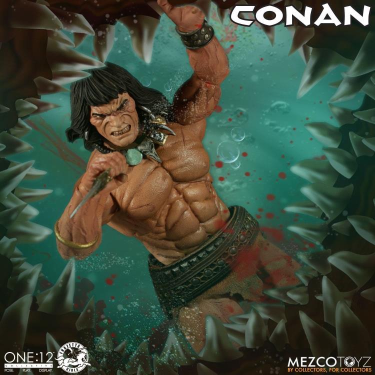 mezco toyz one 12 conan figure -body detail